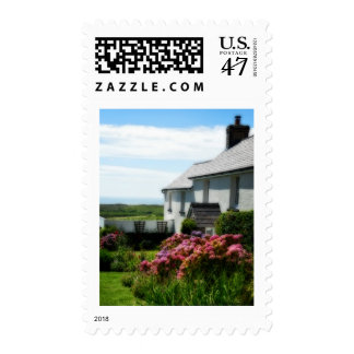 Country cottage in Wales Postage
