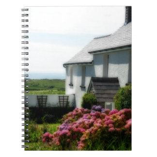 Country Cottage in Wales Spiral Note Books