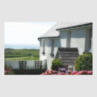 Country Cottage in Wales Rectangle Sticker