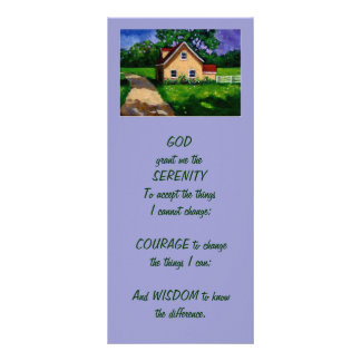 Country cottage: Painting: SERENITY PRAYER Rack Card
