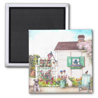 COUNTRY COTTAGE PETS MAGNET