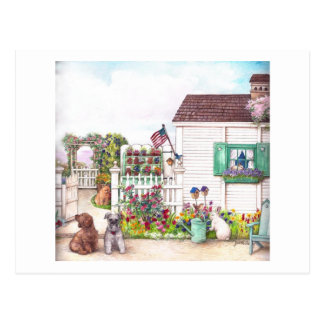 COUNTRY COTTAGE PETS POSTCARD