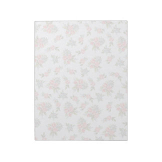 Country cottage roses pink floral pattern note pad