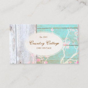 country cottage vintage rustic wood boutique business card - Rustic Business Cards