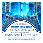 Country Couple Engagement Party Denim and Plaid Invites