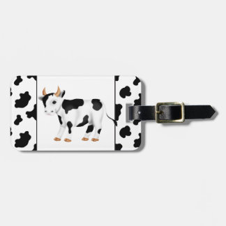 Country cow add words luggage tag