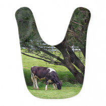 Country Cow Baby Bib
