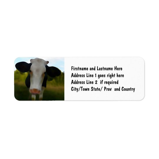 Country Cow Beef Farm Address Label