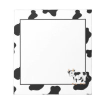 Country cow fun cartoon notepad