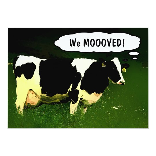 Country Cow Housewarming Party Card