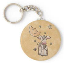Country Cow Keychain