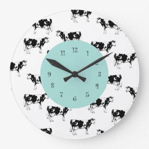 Superbe Country Cow Kitchen Wall Clocks