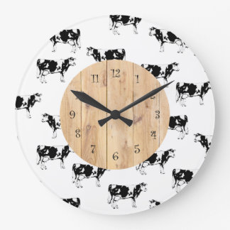 country cow kitchen wall clocks