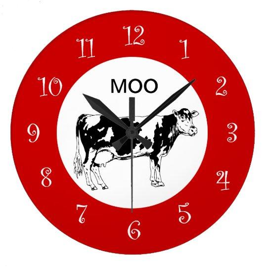 Country Cow Kitchen Wall Clocks Zazzle Com