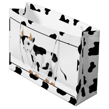 doodlesgifts Country Cow large gift bag