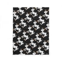Country cow pattern fleece blanket