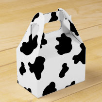 Country cow pattern party favor box