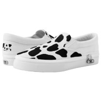 Country cow pattern slip on shoe