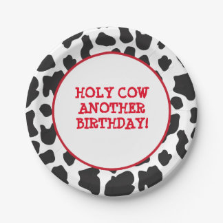 Country Cow Theme Paper Plate