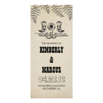 Country Cowboy Boots Sunflower Wedding Programs