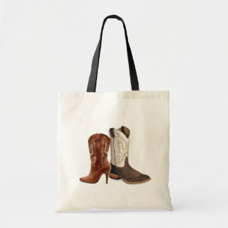 Country Cowboy Boots Western Wedding Favor Budget Tote Bag