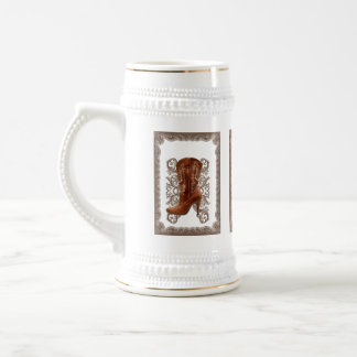 Country Cowboy Boots Western Wedding Favor Beer Stein