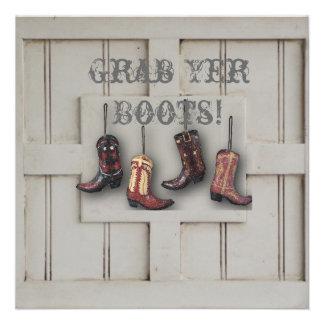 Country Cowboy Boots Western Wedding Invitation