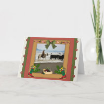 Country Cowboy  Christmas Holiday Card
