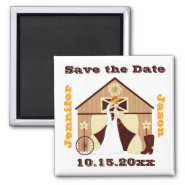 Country Cowboy Wedding Save the Date Magnets