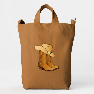 Country Cowgirl Boots with Hat Duck Bag