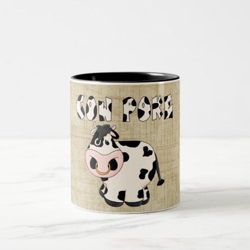 Country Cowpoke Fun Bull Coffee Cup Mugs