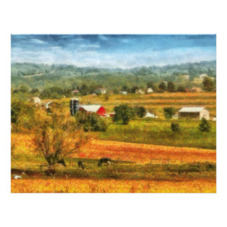 Country - Cows Grazing Letterhead Template