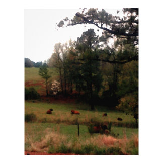 Country Cows Pasture Farm Americana Home Letterhead