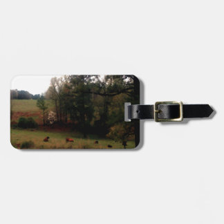 Country Cows Pasture Farm Americana Home Travel Bag Tag