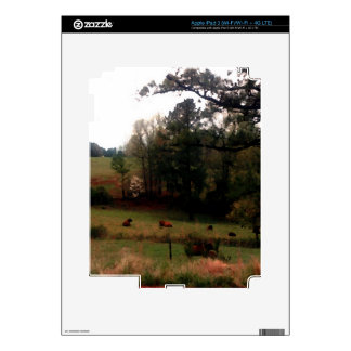 Country Cows Pasture Farm Americana Home Decal For iPad 3