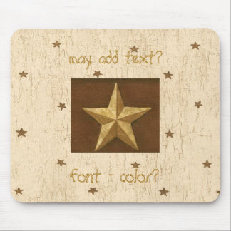 Country Crackle Print W/Gold Stars Mousepad