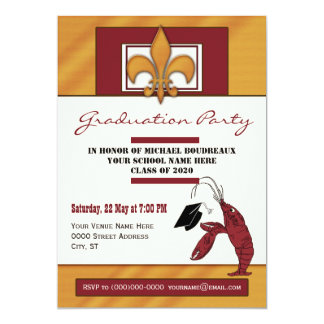 Country Crawfish Graduation Party Card