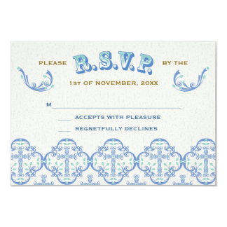 Country Cross Wedding RSVP 3.5x5 Paper Invitation Card