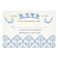 Country Cross Wedding RSVP Invites