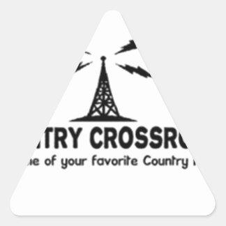 Country Crossroads Triangle Sticker