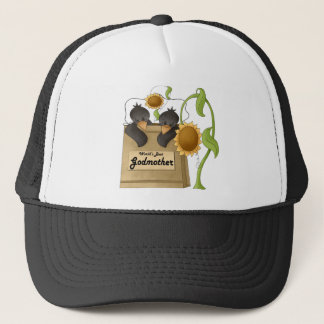 Country Crow Godmother Mothers Day Gifts Trucker Hat
