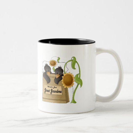 Country Crow Great Grandmother Mothers Day Gifts Two-Tone Coffee Mug