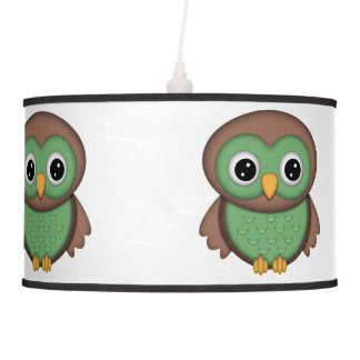 Country Custom Owl Ceiling Lamp