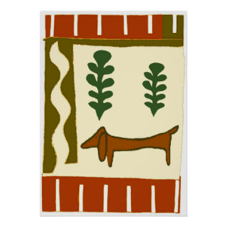 Country Dachshund Poster
