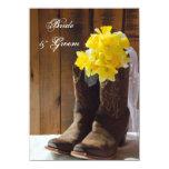 Country Daffodils Wedding Flat Notes Custom Invitations