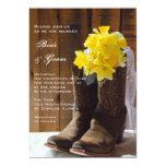 Country Daffodils Wedding Invitation