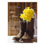 Country Daffodils Wedding Rehearsal Dinner Invite