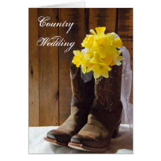 Country Daffodils Wedding Save the Date Cards