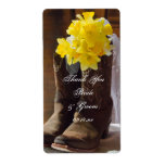 Country Daffodils Wedding Thank You Label