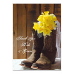 Country Daffodils Wedding Thank You Notes Personalized Invitation